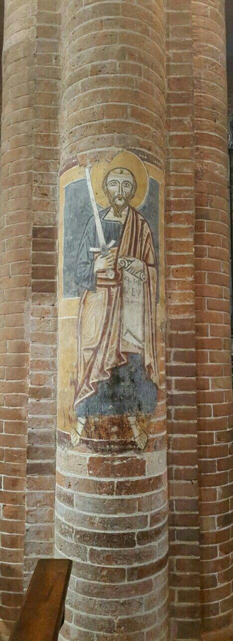 Dan Teodoro. Pavia. Affresco XIII sec.