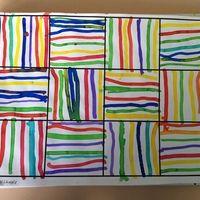 graphisme traits GS Tout simple mais super beau. Ce travail a été réalisé par les élèves GS de mon collègue J. au coton tige et à l'encre sur une feuille canson A3 quadrillée  version...