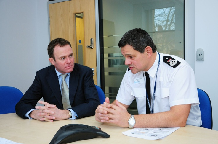 Chief Constable Andy Parker discusses the Alliance between Warwickshire and West Mercia Police with Home Office Minister for Policing and Criminal Justice Nick Herbert.