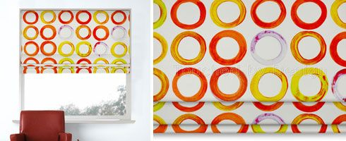 Prestigious Paintpots Orange Roman Blind