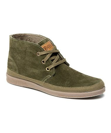 Natural World Kaki Safari Suede Chukka Boot - Women