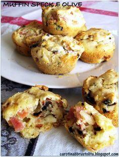 Muffin speck, olive e ricotta