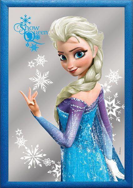Espejo Elsa. Frozen: El Reino del Hielo 22 x 32 cm Estupendo espejo con la imagen de la protagonista Elsa, perteneciente a la película de animación Frozen: El Reino del Hielo.
