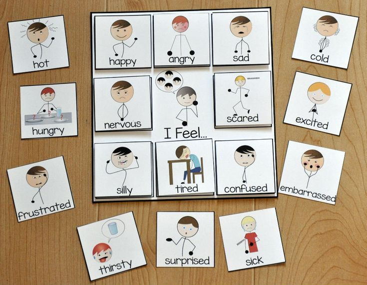 """Free Behavior Supports! This visual is a printable behavior support for students with Autism and other visual learners. The """"I Feel Card,"""" works well with students who have difficulty understanding and expressing and communicating emotions/feelings and needs."""