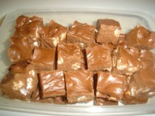 See's Fudge  My parents got this recipe years ago from a little old lady that they delivered firewood to. The legend goes that she had asked See's Candies if they could send her their fudge recipe. They did, along with a bill he paid the bill and then gave the recipe to everyone she knew. I have no idea if any of it is true, but it is the best and easiest fudge recipe I have ever made.    Melt 1 12oz bag of chocolate chips with 1 stick of butter in a large bowl in the microwave for 45 to 60…