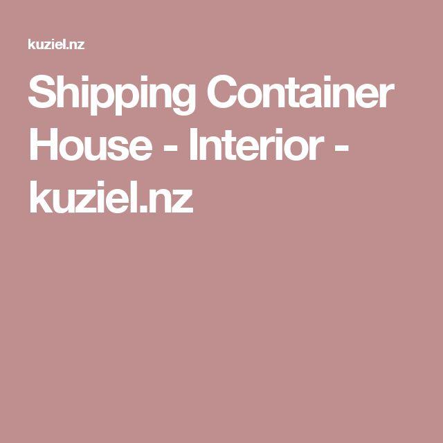 Shipping Container House -Interior - kuziel.nz