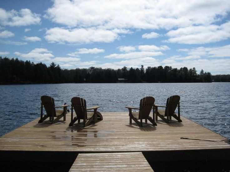 View from our Muskoka chairs