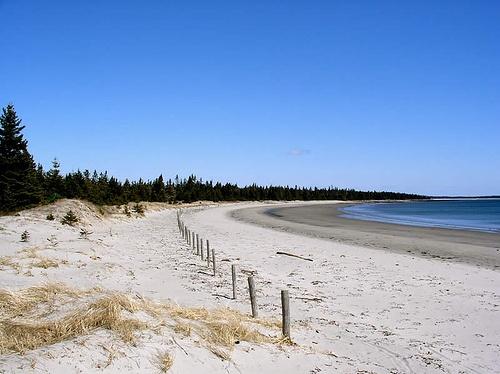 Interesting shot of Risser's Beach in Lunenburg County.
