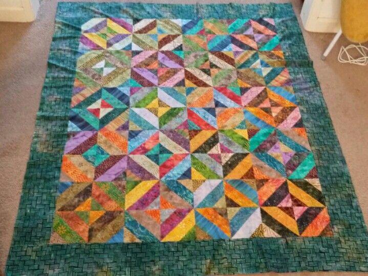 Top quilt moda batik fabric jelly roll
