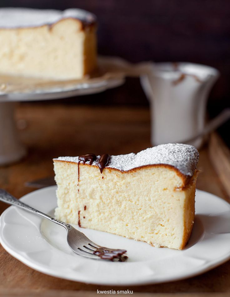 Traditional Polish Cheesecake.