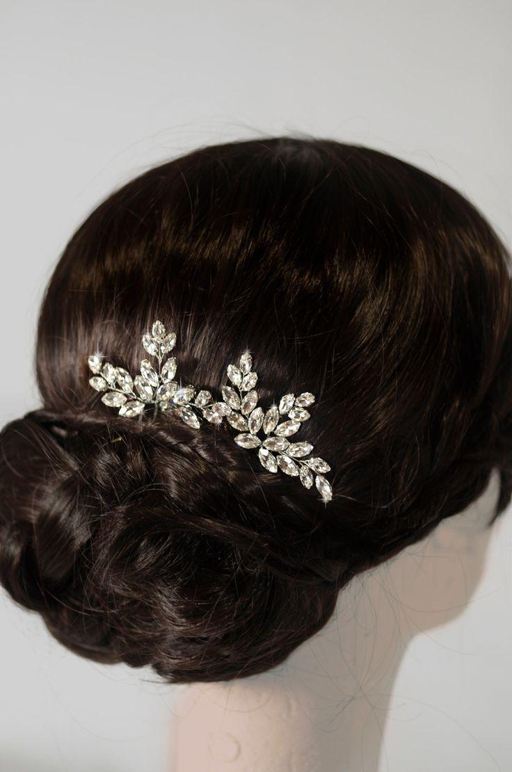 rhinestone hair pins, crystal hair pins, bridal hair pins by MarinaUA