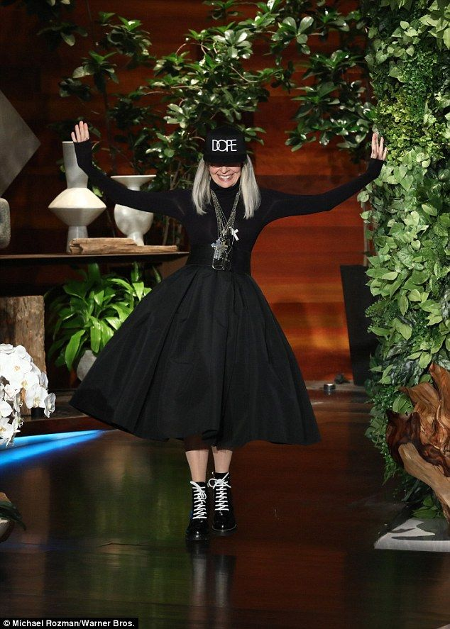Diane Keaton admits her celebrity crush on Chris Martin  Shes recently come under fire for defending her besieged friend Woody Allen from sexual abuse allegations.  But Diane Keatons appearance on The Ellen DeGeneres Show on Tuesday took a decidedly lighter tone  as the 72-year-old admitted her celebrity crush on singer Chris Martin 40.  That face got better with time gushed the Annie Hall actress.  Scroll down for video  May-December romance? On The Ellen DeGeneres Show on Tuesday…