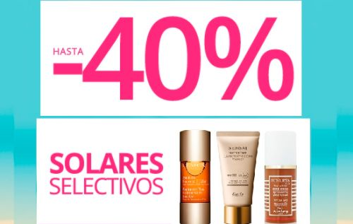 Hasta un 40% de descuento en solares en Paco Perfumerías