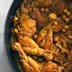 Indian-Spiced Chicken with Chickpeas and Spinach: Recipe: bonappetit ...