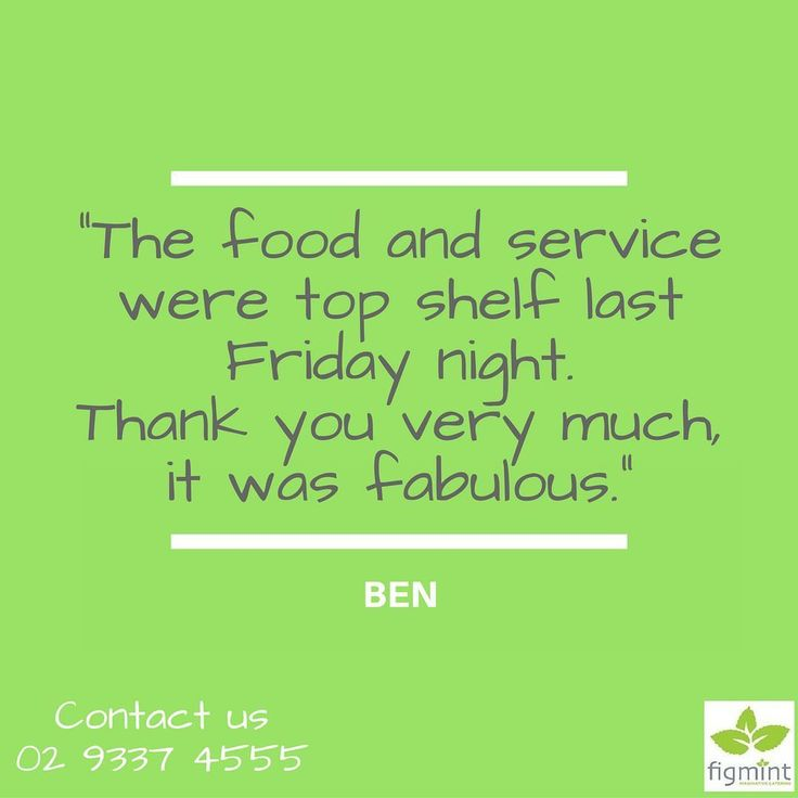 """The food and service were top shelf last Friday night. Thank you very much it was fabulous."" - Ben  Make your party on top shelf any day with Figmint Catering. Contact us at 02 9337 4555 today.  #figmintcatering #sydneycaterer #thehighheeledhostess"