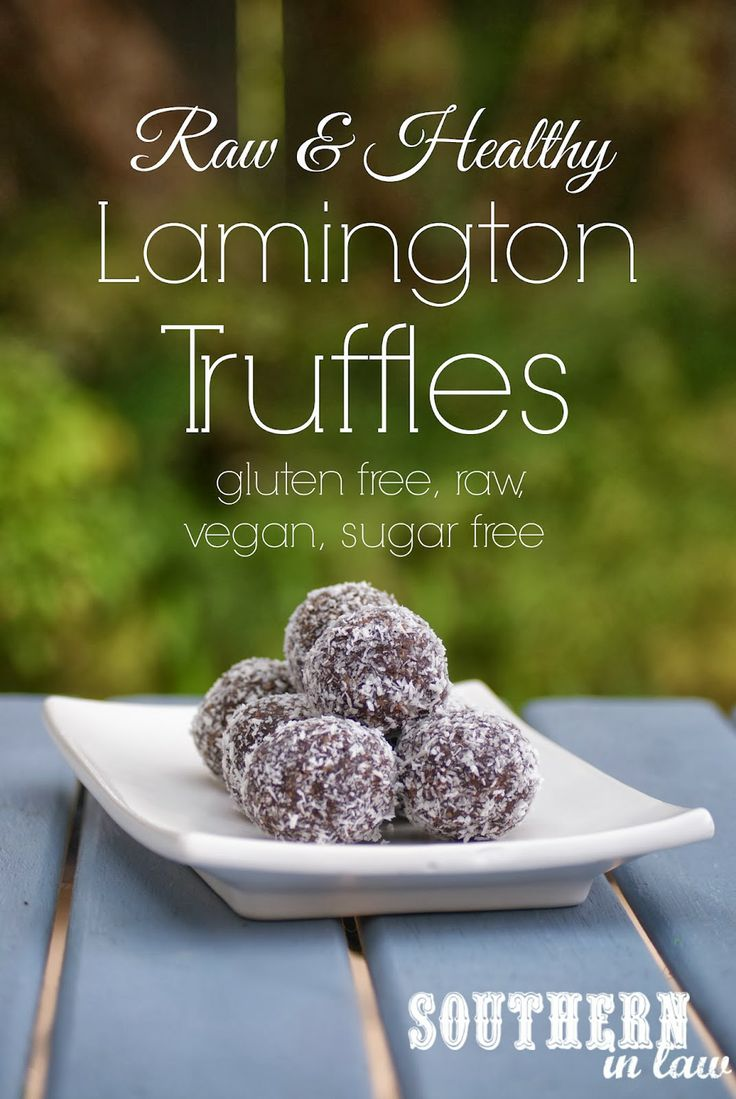 Raw Lamington Truffles - Raw Chocolate Coconut Bites #SouthernInLaw