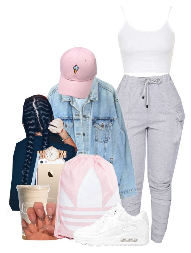 """Girly +Tomboy"" by melaninprincess-16 ❤ liked on Polyvore featuring Topshop, Levi's, Marc by Marc Jacobs, adidas and NIKE"