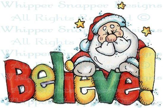 Believe Santa #clipart