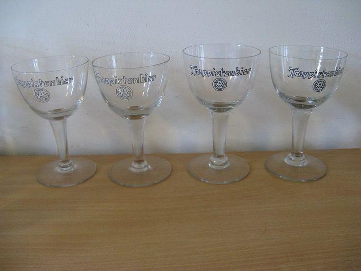 For Sale four original glasses: Trappistenbier...Clean-up!