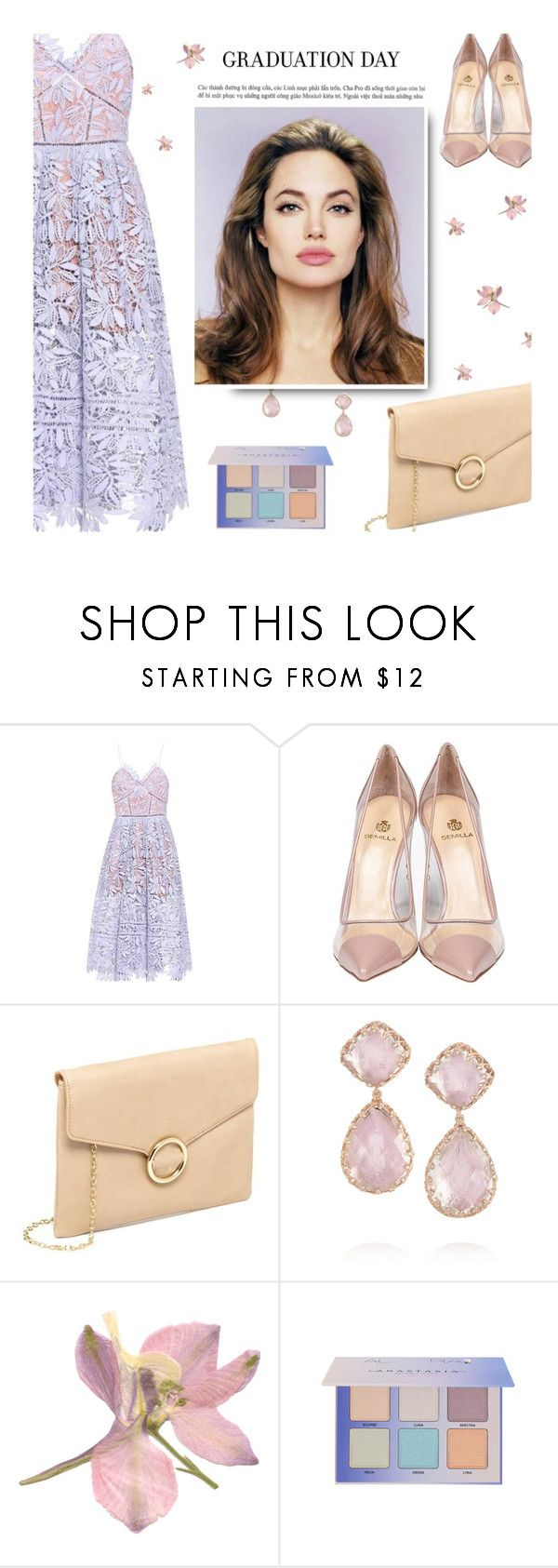"""graduation"" by uncharged-batteries ❤ liked on Polyvore featuring self-portrait, Semilla and Larkspur & Hawk"
