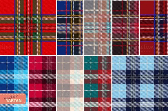 Set of 10 seamless tartan patterns by VasilkovS on @creativemarket