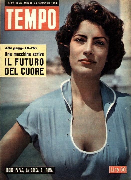 "Movie star Irene Papas: ""The Greek of Rome"" (24th September 1953)."