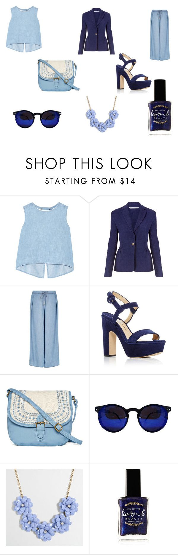 """""""Hot office lady....."""" by zoeb-dcc ❤ liked on Polyvore featuring Steve J & Yoni P, Diane Von Furstenberg, River Island, Paul Andrew, T-shirt & Jeans, J.Crew and Lauren B. Beauty"""