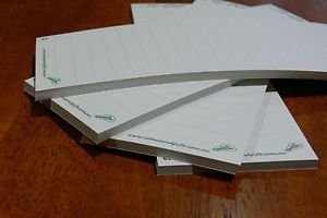 4 x Recycled Paper 'to do/shopping list' Notepads. Can be used as is or refills for our A5 Whiteboard Memo & Notepad Holder Magnet.  New Release: Now comes with 50 leaf/pages and made with unbleached recycled paper.       Refer to eBay link for more details & purchasing.