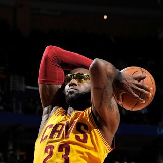Why Was LeBron Wearing Goggles? James' Glasses - NBA Standings  LeBron Jameswore goggles during Saturday night's game against the Washington Wizards. James' yellow tinted glasses didn't last long. He tossed them to the side late in the first quarter. Cleveland lost to the Wizards 127 to 115. The Cavs have nothing to worry about since they've already clinched the division.  LeBron James corneal abrasion eye injury  On Friday March 24 2017 the Cleveland Cavaliers played the Charlotte Hornets…