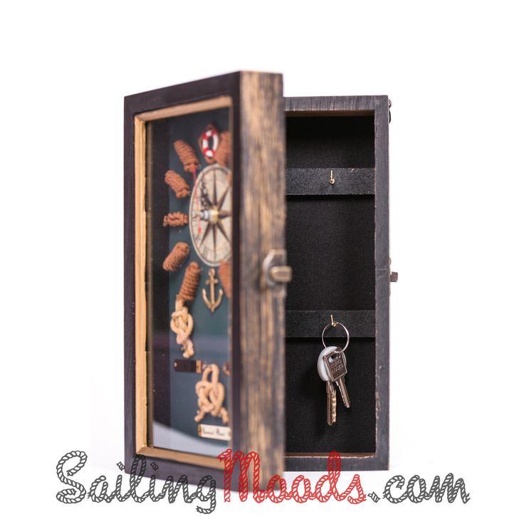 Key cabinet KNOTS (nautical) http://sailingmoods.com/en/home/22-key-cabinet-knots-.html