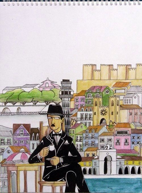 Fernando Pessoa - beloved in Portugal - poet extraordinaire