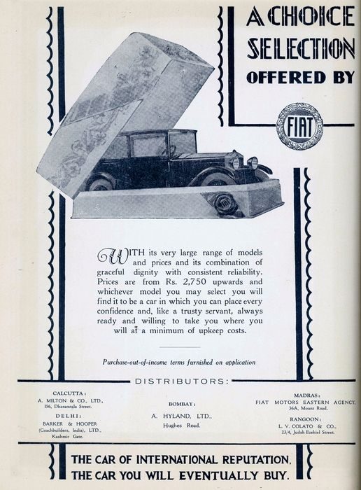Fiat Automobiles Company was founded in 1899 in Italy and since then the company has always climbed the graph of quality automobiles! Here's a 1929 ad of the famous Fiat cars! #auromobile #fiat #old #advertisement #heritage #transport