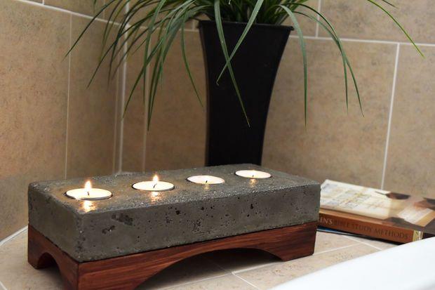 Concrete candle holder beton diy holzarbeiten und diy ideen - Holzarbeiten ideen ...
