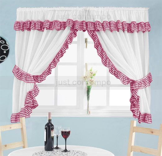 Gingham Curtains Red And White Gingham Curtains Kitchen: Http://www.anishparekh.com/ebay/Curtains/Kitchen-Curtains