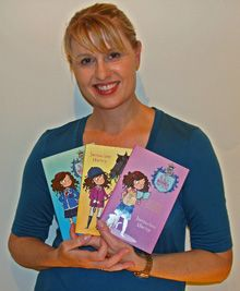 Jacqueline Harvey with some of her books from the popular Alice-Miranda series.