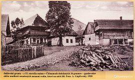 Čičmany - Joklovské grunty v roce 1928 (z expozice v Radenově domě)
