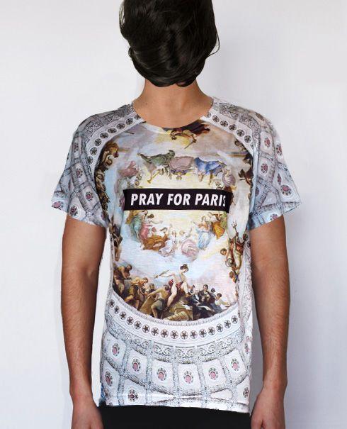 Pray for Paris 'Holy Grail' t-shirt (all-over print)   Pray For Paris $77.16