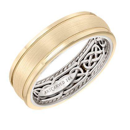 artcarved bridalstyle 11 wv21u7 mens wedding band with celtic pattern - Celtic Mens Wedding Rings