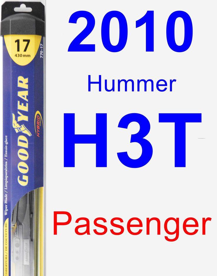 Passenger Wiper Blade for 2010 Hummer H3T - Hybrid