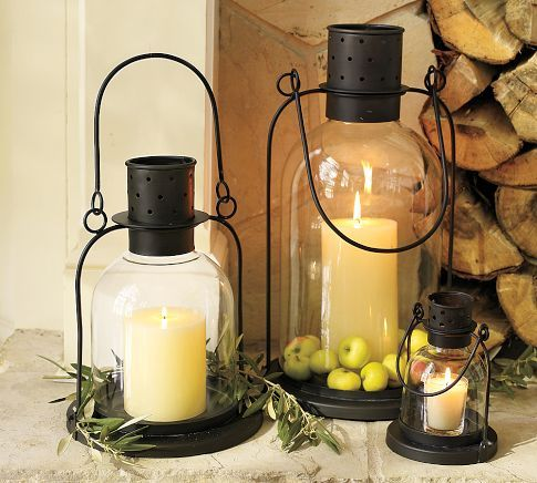 Arches Lantern | Pottery Barn: Decor Ideas, Fall Decor, Candles Centerpieces, Fireplaces, Candles Holders, Arches, Christmas Lights, Lanterns, Pottery Barns