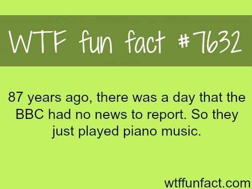The day where nothing happened - WTF fun facts