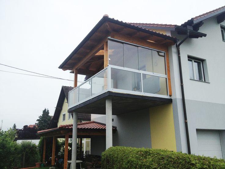 Schiebetürsysteme für eine Terrasse aus Aluminium und Glas! Ideen für einen optimalen Windschutz unter www.fenster-schmidinger.at/projekte