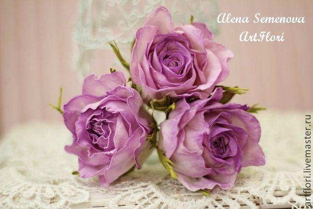 Шпильки розы для прически - фиолетовый,сиреневый,лиловый,розы,шпильки