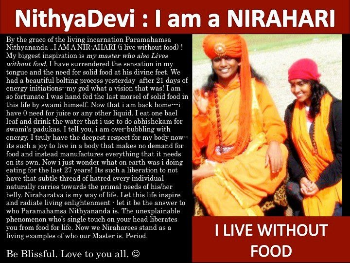 nirahara samyama - living without food...