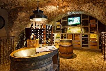 Wine cellar of Burgundy limestone - rustic - wine cellar - other metro - Vinis BMC Production