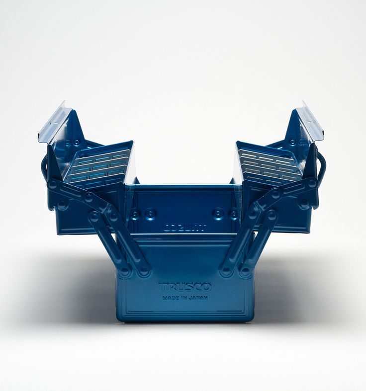 Trusco Blue Tool Box ($80). The rugged Trusco Tool Box is an instant classic. Manufactured of stamped and enameled steel, it features a unique hinged lid and removable dividers that allow for a range of tools and uses. Made in Japan.