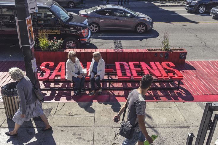 La grande terrasse rouge sur Saint-Denis