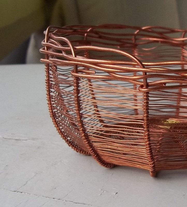 Handmade Copper Basket : Best images about copper basket on