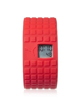 50% OFF PUMA Unisex PU910832009 Cell Red/Gray Silicone Watch
