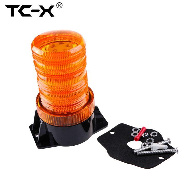 TC-X LED Strobe Beacon Amber Light Car Mounted Car-Styling Vehicle Police Warning Light LED Flashing Emergency Hazard Lighting